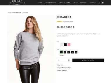 Online store model 1/ Tienda online modelo 1