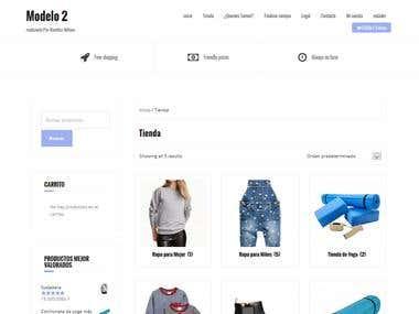 Online store model 2/ Tienda online modelo 2