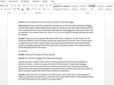 Transcription Project