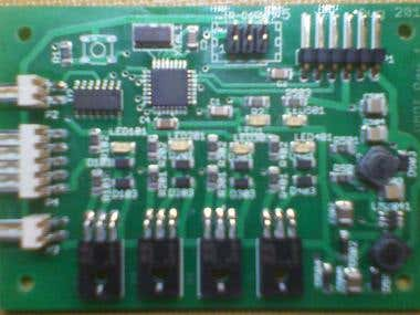 Completed microcontroller circuit board