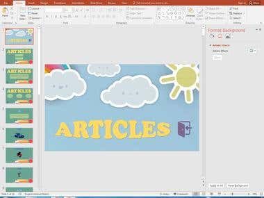 Teaching software using PowerPoint (articles)