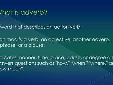 Grammar (Adverb) Presentation