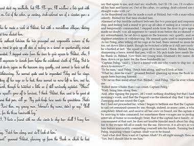 Transcription of cursive writing