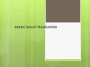 ARABIC MALAY TRANSLATION