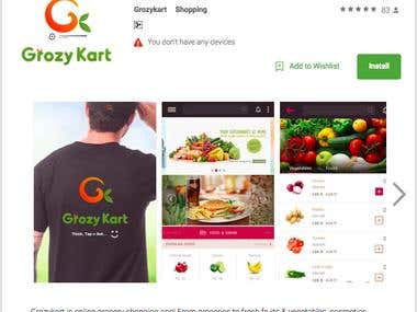 Grozy Kart (Android E-commerce application)