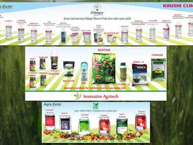 Agriculture products banners