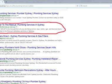 Plumbing Services Sydney - Got #1 ranking