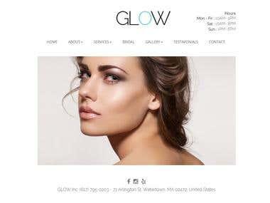 GLOW --- Website for Beauty salon