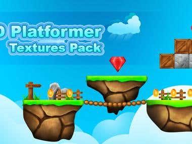 2D Platformer Textures Pack