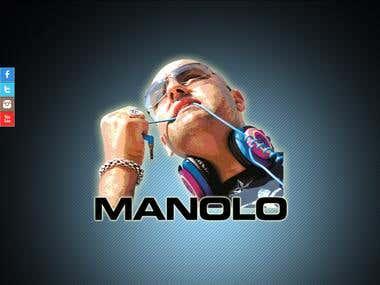 Website for DJ Manolo