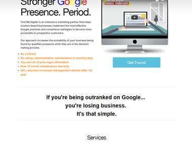 Find Me Digital -- Website for interactive marketing partner