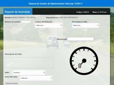 SGMV - Sistema de Gestión de Mantenimiento Vehicular