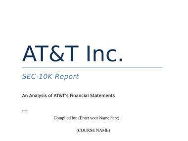 REPORT WRITING AT&T INC