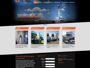crudeconcepts (website design and html/css conversion)