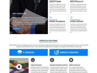 """Landing page design """"Network Minds"""""""