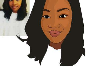 vector portrait from photo