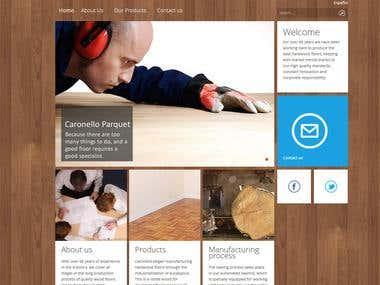 Website using Joomla!3 with custom theme setup