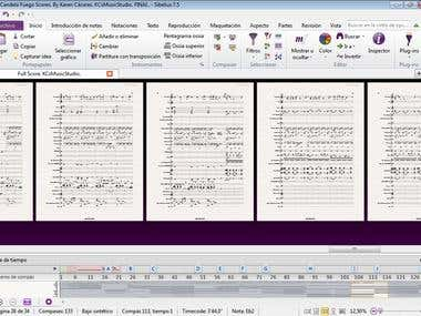 CandelaFuego. FullScore of GivenAudioFile. By Karen Cáceres.