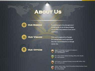 "Website Design ""About Us Page """