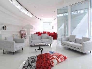 Interior design and Render