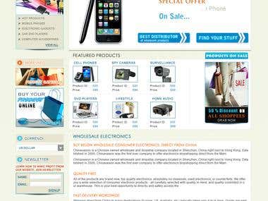 Online electronics shopping