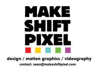 Makeshift Pixel Logo Design