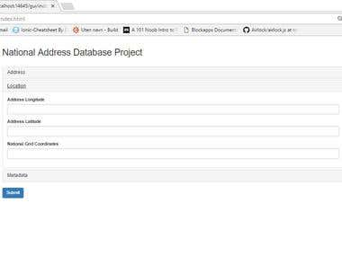Ethereaum blockchain and IPFS based Address database
