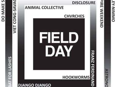 Music Poster Field Day Festival
