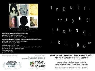 Brochure for art exhibition