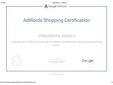 Google Shopping Advertising Exam Certfication