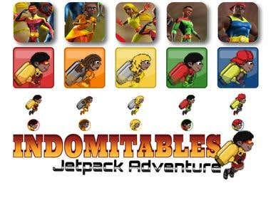 Indomitables (Logo and Pixel Art)