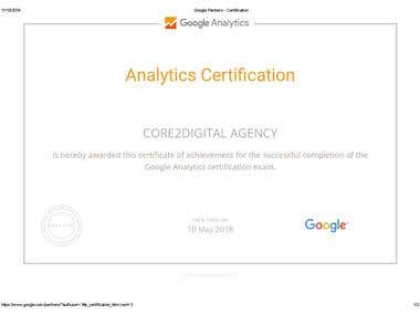 Google AnalyticsAdvertising Certfication