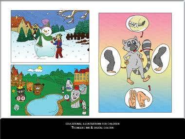 Educational illustrations for children