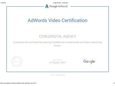 Google Video Advertising Certfication