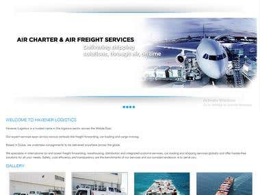 Website for Logistics Industry