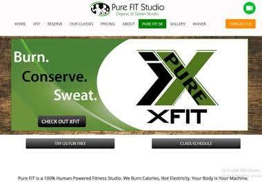 Website for  Fitness Studio