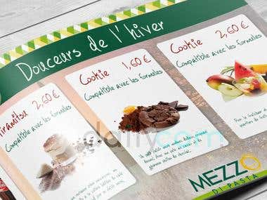 Brochure commerciale pour la chaine Mezzo di Pasta