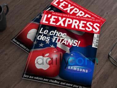 Page de couverture pour le magazine quotidien l'Express