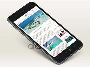 Site internetTaluna Hôtel situé dans les îles des Maldives
