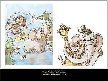 Funny animals for children