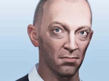 Vincent Cassel 3d modeling
