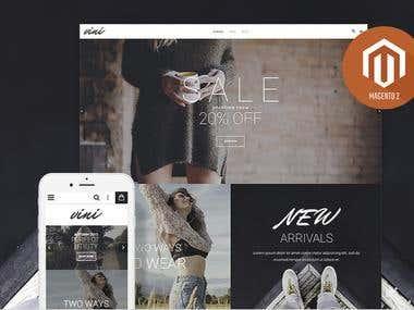 Magneto 2 design - Online Fashion shop