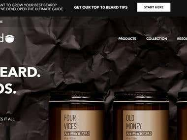 e-commerce website - https://www.beardbrand.com/