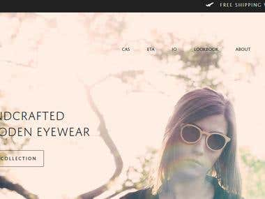 e-commerce website - http://luneteyewear.com/