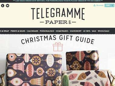 Ecommerce website - http://telegramme.co.uk/