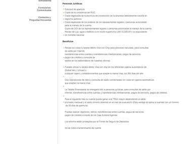 Diseño web Caja Sullana