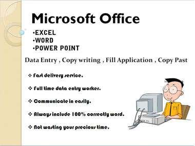 data entry , copy writing , fill application , copy past