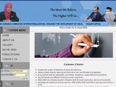 Web Application : e - Teacher