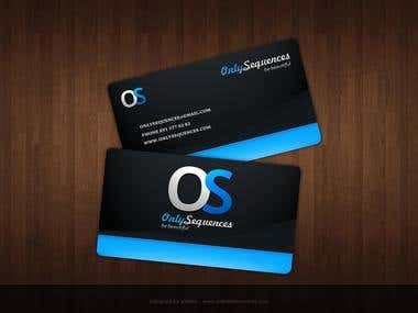 Black & sky Business card Design