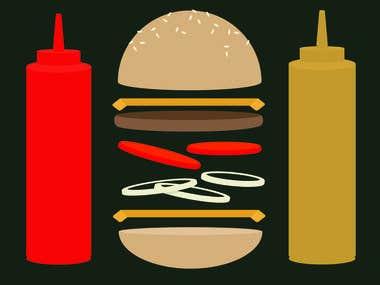 Hmaburger Illustration